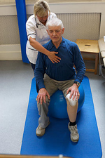 patient working with therapist